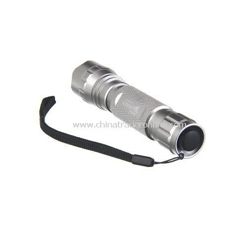 UltraFire WF-501B 1000 Lumen T6 LED 3-Mode Aluminum Torch Flashlight 1X18650 Silver