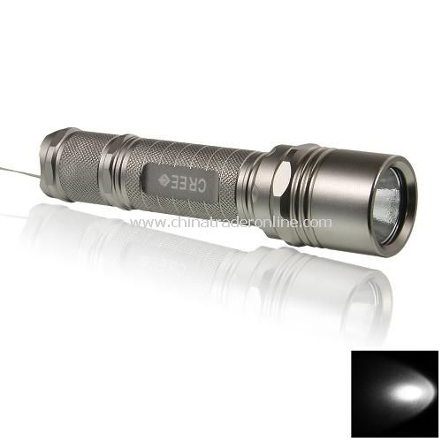 UniqueFire M2 1000LM 1-Mode CREE XM-L T6 LED Flashlight Silver 1x18650/2X16340(battery excluded)