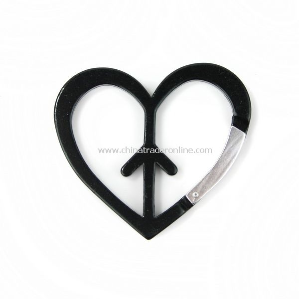 Multifunctional Dog Heart Arrow Shaped Carabiner Black