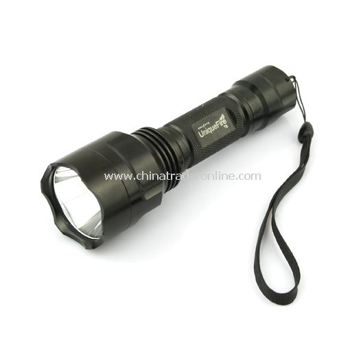 UniqueFire T6 CREE XM-L T6 LED 3-Mode LED Torch Flashlight 1X18650 Black(battery excluded)