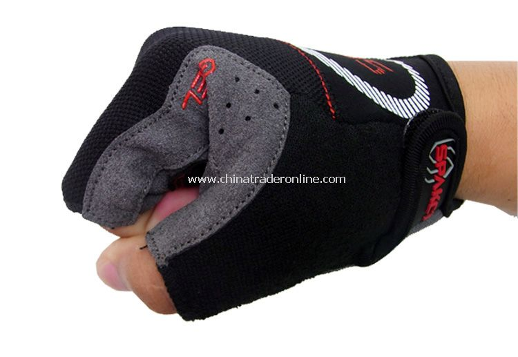 Black cycling half fingers gloves