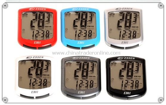 Cycling Bicycle Bike 10 functions Computer Odometer Speedometer Waterproof red color from China