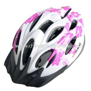 NEW Cycling Bicycle MERIDA Adult Mens Bike Helmet purple with Visor