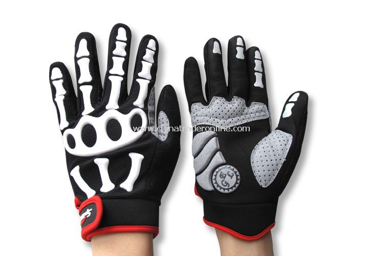 Skull silicon Full mittens sports gloves from China
