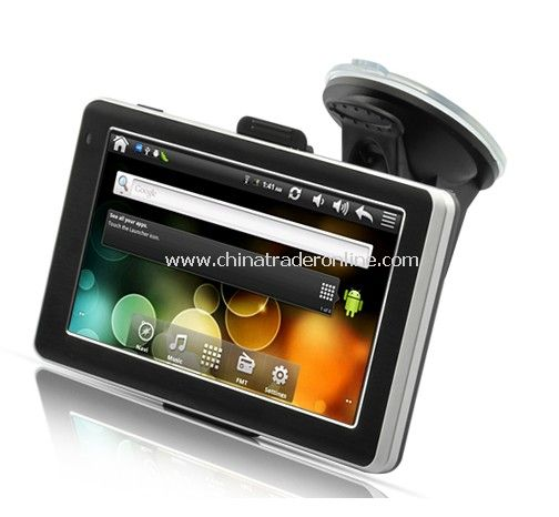 CyberNav Mini - Android 2.3 Tablet GPS Navigator with 5 Inch Touchscreen (WiFi, 8GB, FM Transmitter)