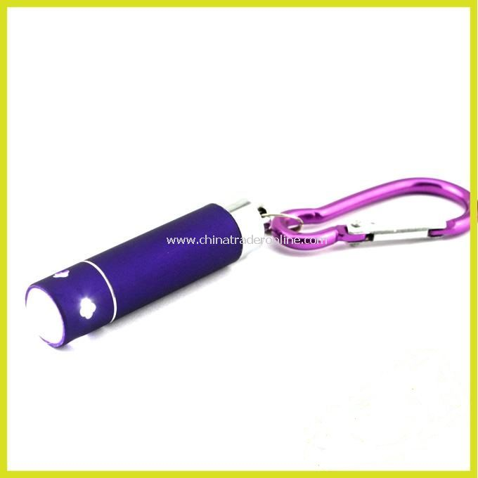 Cool Flashlight White Light With Keychain (3*LR44) Purple