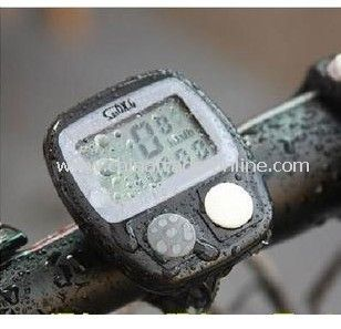 New LCD Digital Cycling Bike Bicycle Cycle Computer Odometer Speedometer W/Proof