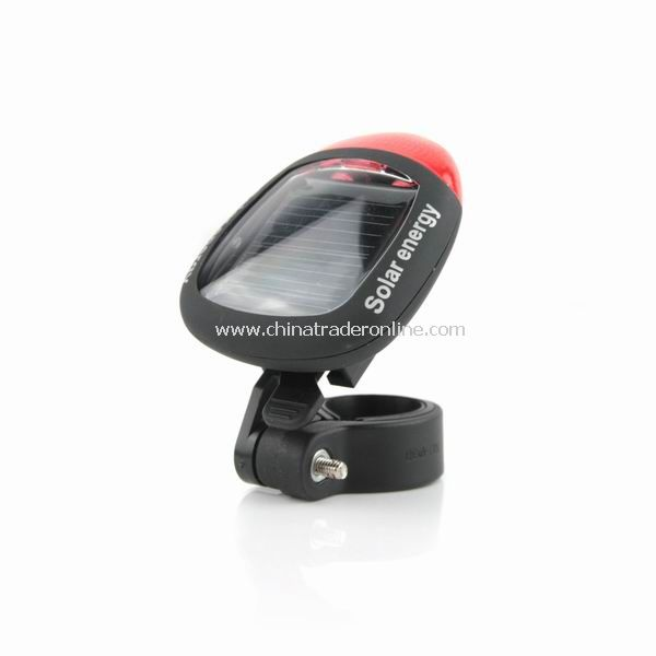 New LED Solar Energy Bicycle Bike Tail Lamp Rear Light