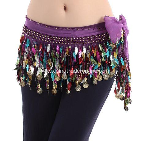 Chiffon Coin Sequin Belly Dance Waist Chain Belt