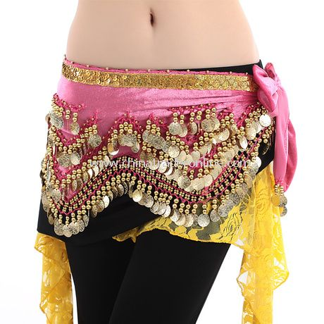Chiffon Coin Sequin Belly Dance Waist Chain Belt