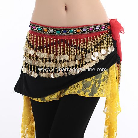 Fashion Gemstone Beading Sequin Belly Dance Waist Chain Belt