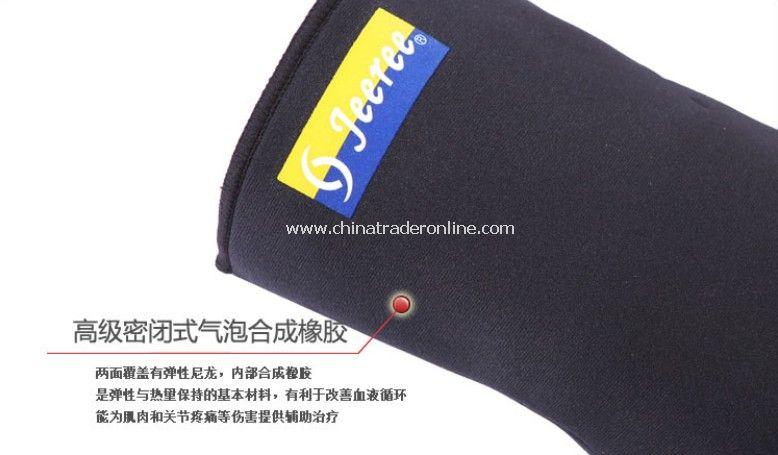 Sport Adjustable Cheap Appoint Badminton Teams Durable Knee Belt Protective Gear-black