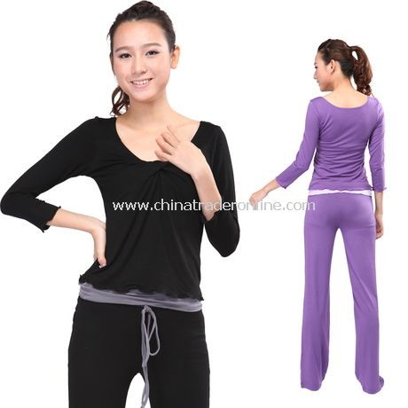 Viscose Fiber Women Yoga Clothing from China