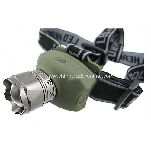 ZOOM FOCUS LED HEAD LAMP LIGHT TORCH 5W
