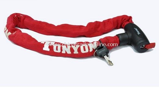90CM Coating Bike Chain Lock RED