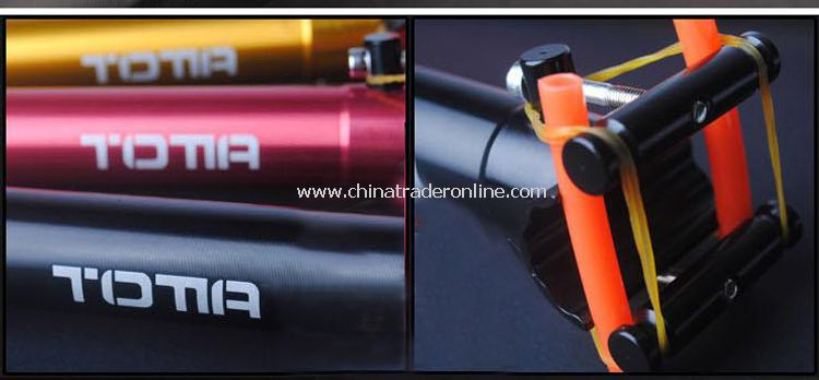 Aluminium Alloy Bike Seat Tube Gold