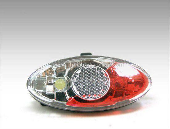 Bicycle Cycling Bike 4 LED Headlight Rear Flashing Caution Warning Tail Light