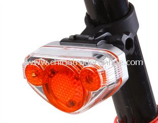 Bicycle Cycling Bike 5 LED Caution Warning Tail Light