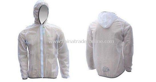 Cycling Pro Rain Coat white
