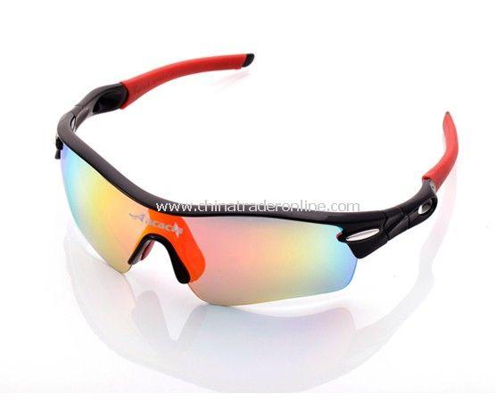 Fashion bicycle Eyewear UV400 Sports sun glasses black+red