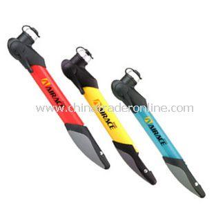 High Pressure Mini Portable Folding Shield Bicycle Pump Blue