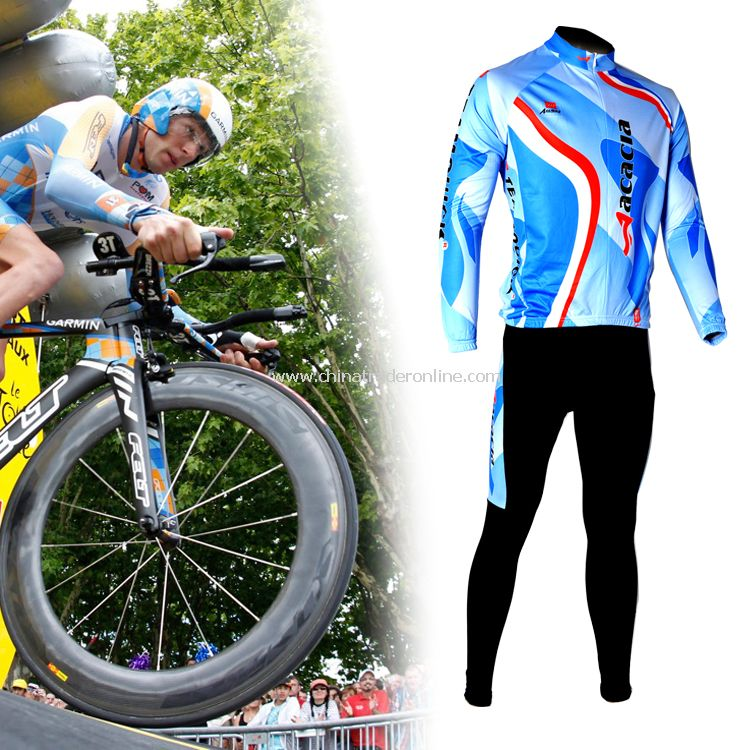 Men s Team Bicycle Cycling Suit Long Sleeves Jersey
