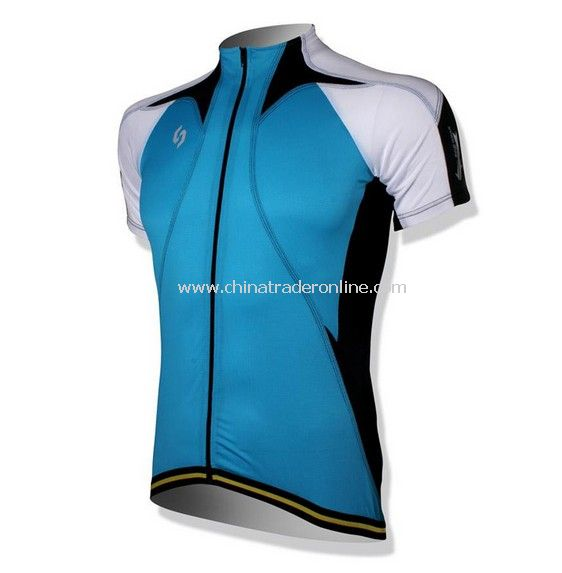 Outdoor sports kits Cycling Jersey short bicycle shirt bike wear suit + pants blue