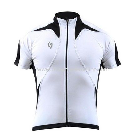 Outdoor sports kits Cycling Jersey short bicycle shirt bike wear suit + pants white