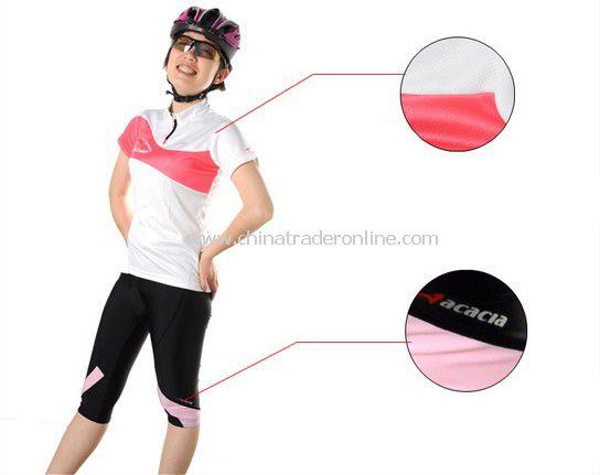 women Cycling Bicycle Suit Bike Racing Clothing Jersey+Shorts pink