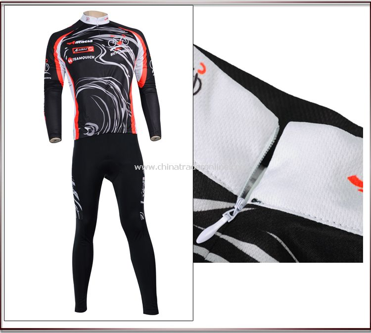 Mens Team Bicycle Cycling Suit Long Sleeves Jersey Bike Racing Sport Suit Sets from China