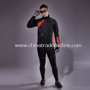 Mens Team Bicycle Cycling Suit Long Sleeves Jersey Bike Racing Sport Suit Sets