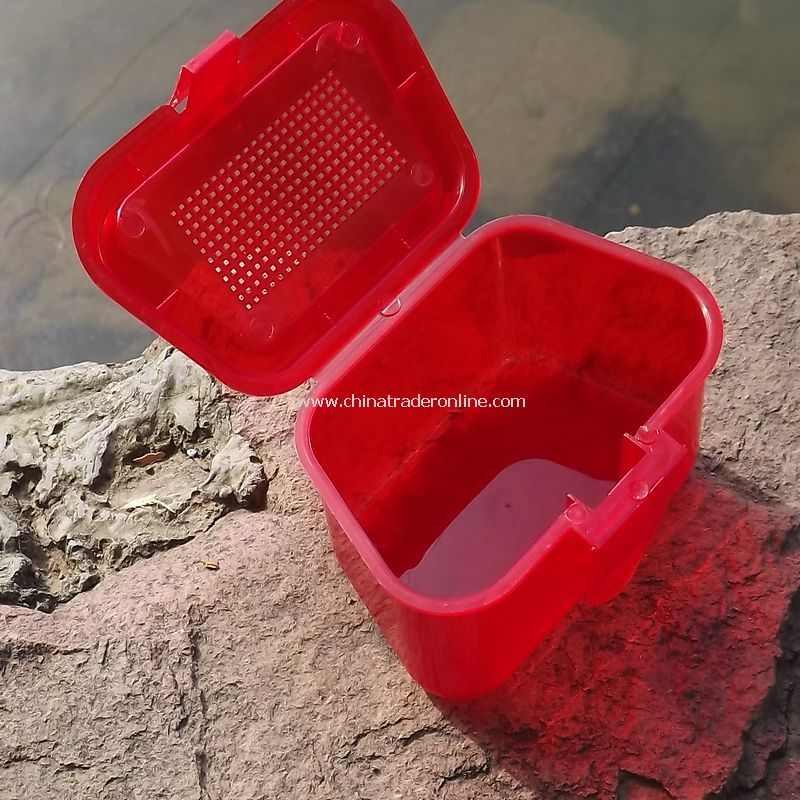 Plastic earthworm box fishing box fishing tool