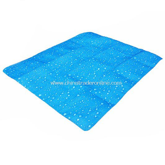 Drops cloth picnic mat children play creeping moisture pad outdoor equipment Blue color