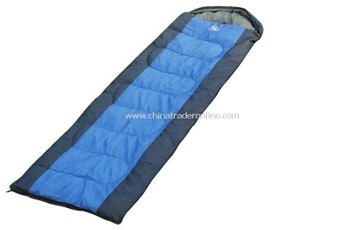 Outdoor travel camping sleeping bag for Couples light weight blue Color