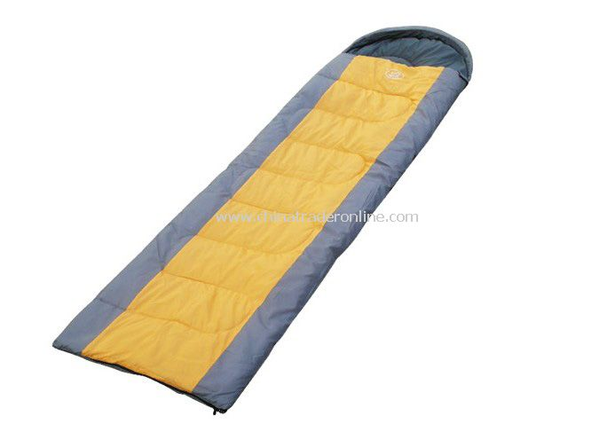 Outdoor travel camping sleeping bag for Couples light weight Yellow Color