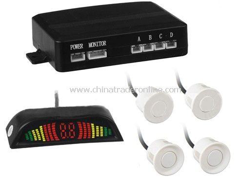 4 Sensors LED Car Parking Sensor Reverse Radar