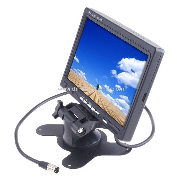7 TFT LCD Color Car Rearview Headrest Monitor DVD VCR