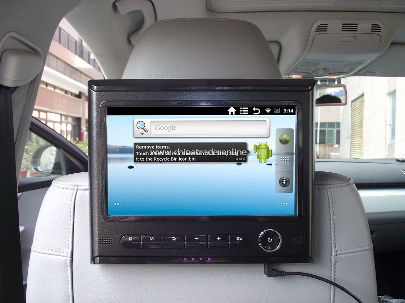 9inch Android System Car Headrest Tablet PC+Wifi Internet+FM Transmitter