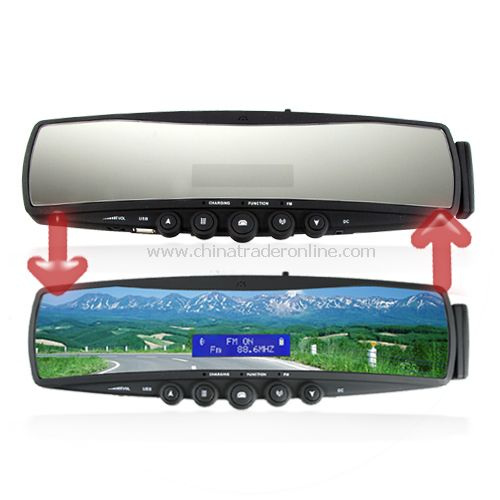 Bluetooth Rearview Mirror with Embedded Mini-LCD