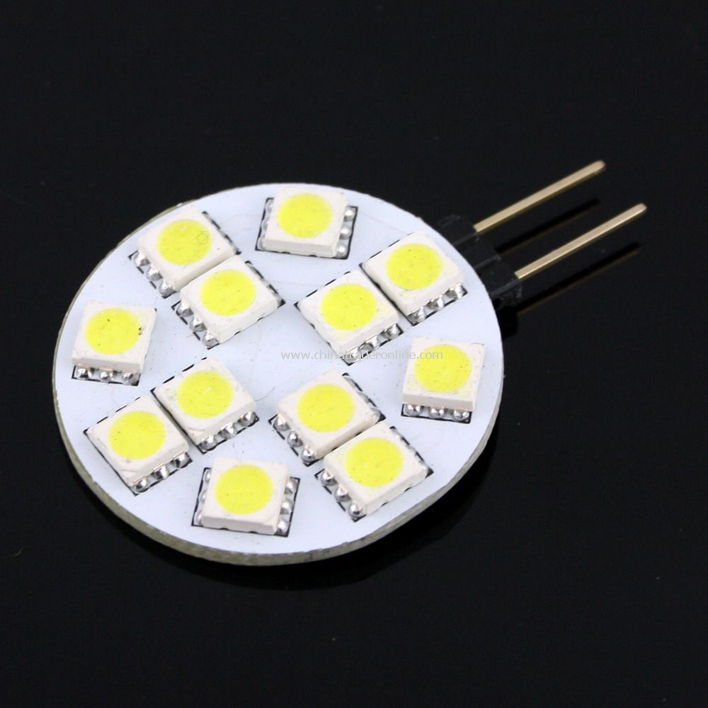 G4 12-5050 SMD LED Pure White Light Bulb Lamp Car DC 12V