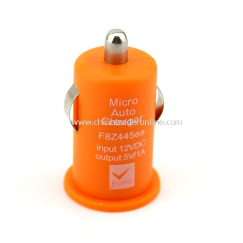 Mini USB Car DC Charger for Apple iPod iPhone MP3 Orange
