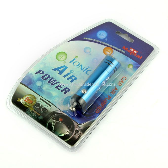 New Auto Car Fresh Air Purifier Anion Bar Ionizer Blue