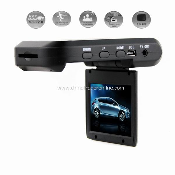 2.5 TFT LCD Vehicle Car Camera HD DVR Dashboard Recorder