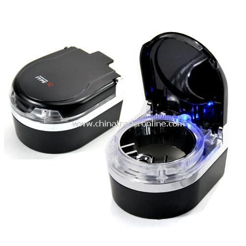 Car with LED lights blue ashtray Mini Ashtray silver