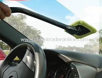 Handy Windshield Wiper Cloth Wonder Cleaner Ergonomic Handle + Pivoting Head