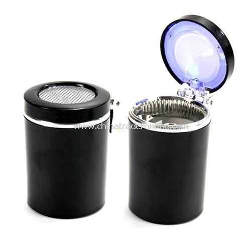 LED blue car ashtray black