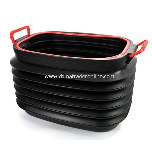 Lid telescopic trunk compartment bucket folding box