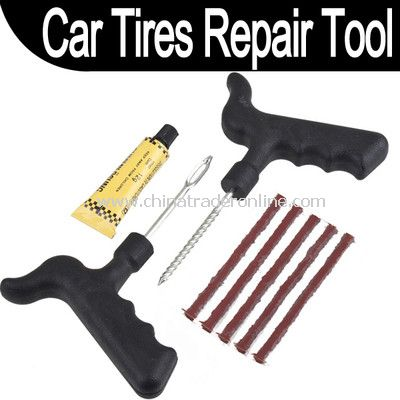 Safety Car Bike Auto Tubeless Tire Tyre Puncture Plug Repair Cement Tool Kit