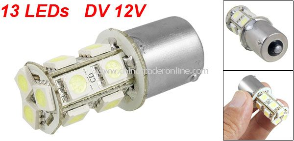 1156 BA15S Car Signal SMD 13 LED Cold White Light Lamp Bulb Turn Tail Brake 12V