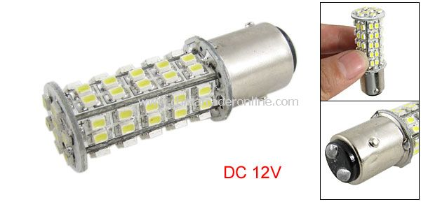 1157 BAY15D 68 SMD Cold White Tail Brake Turn LED Car Light Lamp Bulb